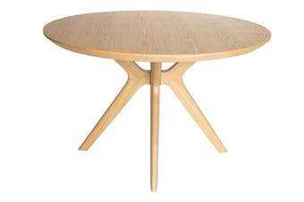 Doreen Collection | Wood Round Dining Table | Natural | 120cm