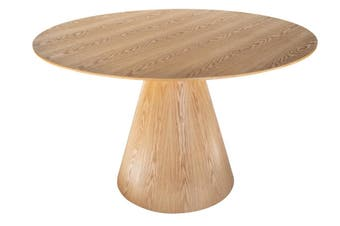 Theo Round Wood Dining Table | Natural | 120cm