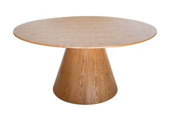 Theo Round Wood Dining Table | Natural | 150cm
