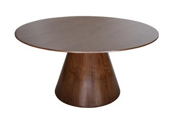Theo Round Wood Dining Table | Walnut | 150cm