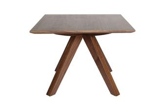Amber Collection | Square Wood Side Table | Walnut