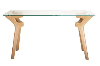 Murf Collection | Rectangular Glass Console Table | Natural