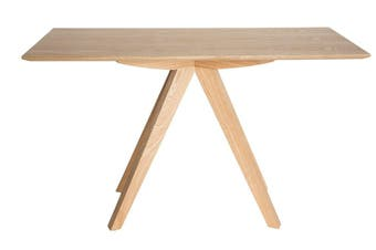 Amber Collection   Rectangular Wood Console Table   Natural