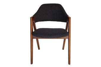 Replica Kai Kristiansen Compass Chair | Grey / Charcoal & Walnut