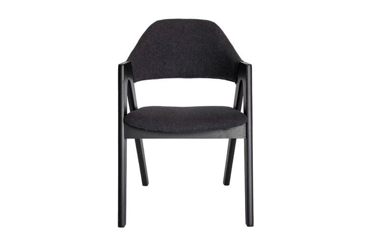 Replica Kai Kristiansen Compass Chair | Grey / Charcoal & Black