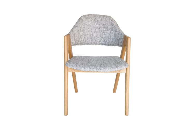 Replica Kai Kristiansen Compass Chair | Textured Light Grey & Natural