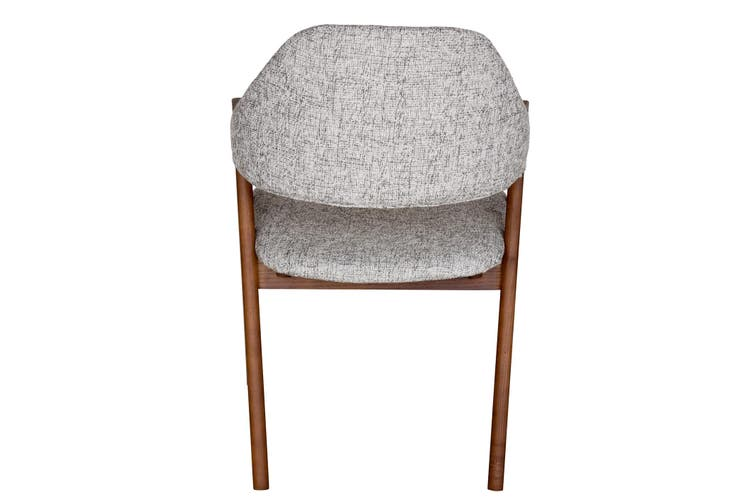 Replica Kai Kristiansen Compass Chair | Textured Light Grey & Walnut