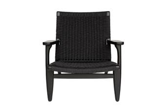Replica Hans Wegner CH25 Easy Chair | Black