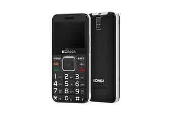 Konka U6 4GB 512MB RAM 3G Senior Phone [AU Stock]- Black/Silver