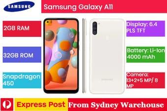 Samsung Galaxy A11 32GB 2GB RAM [Brand New, AU Model]-White