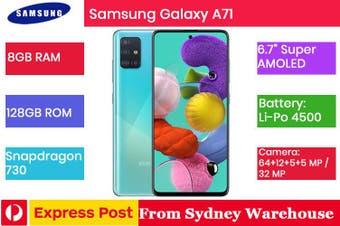 BRAND NEW Samsung Galaxy A71 (8GB/128GB) Dual SIM FAST SHIP AU SELLER SYDNEY Prism Blue [Overseas Model]