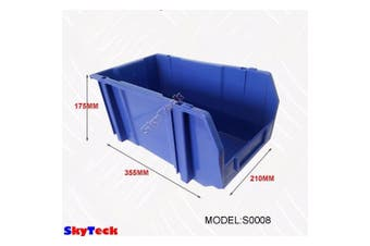 Blue Plastic Stackable Space Saving Storage Bin PK008