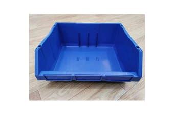 Blue Plastic Stackable Space Saving Storage Bin PK010
