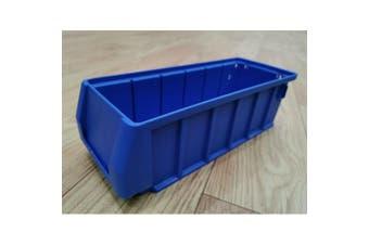 Blue Plastic Stackable Space Saving Storage Bin PK3109