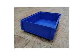 Blue Plastic Stackable Space Saving Storage Bin PK3209