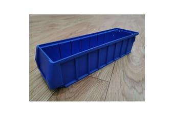 Blue Plastic Stackable Space Saving Storage Bin PK4109