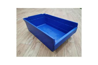 Blue Plastic Space Saving Storage Bin SF6420