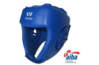 Wesing Aiba Aprroved Leather Head Guard Boxing Training Open Face