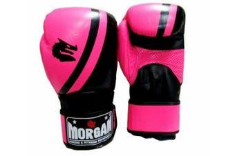 Morgan V2 Professional Leather  Boxing Gloves (10 -16Oz) MMA Muay Thai Boxing