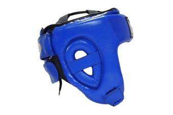 Morgan Platinum Open Face Leather  Head Guard