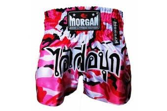 Morgan Muay Thai Pink Diabla Camo Shorts