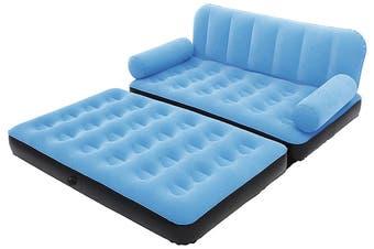 Bestway Air Couch Chair Air Sofa Bed Inflatable Mattresses Sleeping Mats AC Air Pump Blue