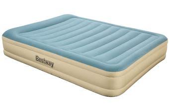 Bestway Fortech Air Bed Queen Inflatable Mattress Sleeping Mats Indoor Home Camping Built-in Pump & Pillow