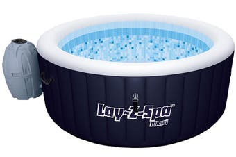 Bestway Inflatable Spa Hot Tub Pool Lay Z Portable Outdoor Jacuzzi 2-4 Adult 61 Jets