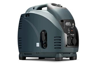 GenTrax Inverter Generator - 2.5KW Max, 2.2KW Rated, 100% Pure Sine Wave, Petrol, Portable for Camping Home - Grey