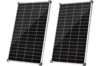 Acemor 12V 2x 200W Solar Panel Kit Mono Power Camping Caravan Battery Charge USB