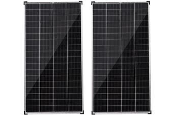 Acemor 12V 2x 250W Solar Panel Kit Mono Power Camping Caravan Battery Charge USB