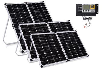 Acemor 12V 360W Folding Solar Panel Kit Mono Power Camping Battery Charge USB