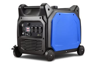 GenTrax Inverter Generator - 6.0KW Max, 5.5KW Rated, Pure Sine, Remote Start, Petrol, Portable for Camping Home - Blue