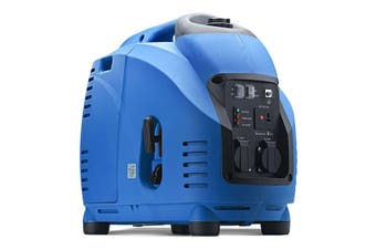 GenTrax Inverter Generator - 3.5KW Max, 3.0KW Rated, 100% Pure Sine Wave, Petrol, Portable for Camping Home - Blue