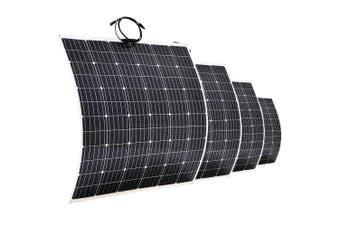 Acemor 12V 250W Flexible Solar Panel Kit Mono Power Camping Battery Charge USB