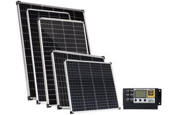 Acemor 12V 160W Solar Panel Kit + 10A Controller Mono Power Camping Charge USB
