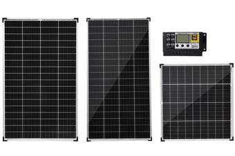 Acemor 12V 130W Solar Panel Kit + 10A Controller Mono Power Camping Charge USB