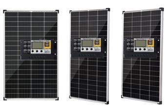 Acemor 12V 250W Solar Panel Kit + 20A Controller Mono Power Camping Charge USB