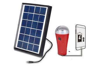 Kuller Solar Panel Light LED Torch Flashlight Power Bank 2000mAh Phone Charger