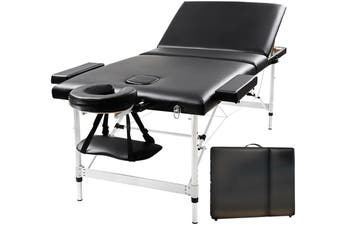 RelaxPro 70CM Massage Table 3 Fold Portable Aluminium Beauty Bed Therapy Waxing