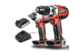 Matrix Power Tools 20V Cordless Brushless Drill + Brushless Impact Wrench Combo Kit