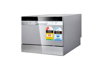 """Electric BenchTop Freestanding Dishwasher 10"""" Max Plate Diameter LED Display 5 Cleaning Programs Home Kitchen Machine"""