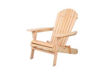 Gardeon Outdoor Chairs Furniture Beach Chair Lounge Wooden Adirondack Garden Patio