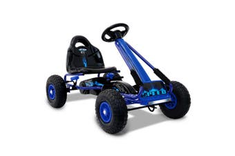 Kids Pedal Powered Go Kart Safety Brake Rollover Prevention Ride-On Racing Car Sport Children Vehicle Toy