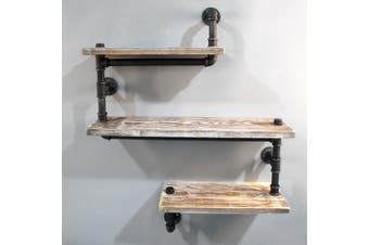 3 Level 84cm DIY Adjustable Metal Bookshelf
