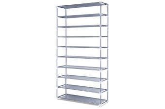 10 Tier Shoe Rack 50 Pair Storage Stackable Shelf Organizer Space Saving Cabinet Holder Entryway Hallway Furniture
