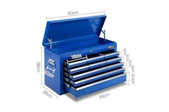 9 Drawer Mechanic Tool Box Storage - Blue