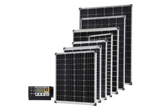 Acemor 12V 100W Flat Solar Panel Kit Mono Camping Caravan Boat Charging Power Battery 100 Watt