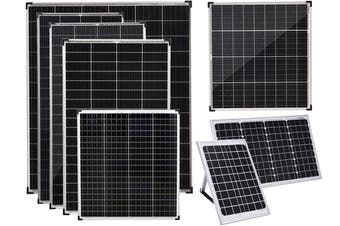 Acemor 12V 160W Flat Solar Panel Kit Mono Camping Caravan Boat Charging Power Battery
