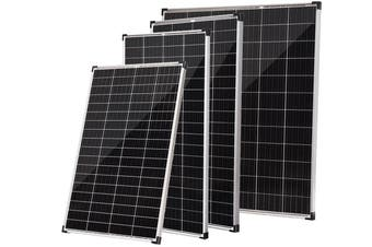 Acemor 12V 200W Flat Solar Panel Kit Mono Camping Caravan Boat Charging Power Battery